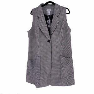 Monroe & Main One Button Club Checkered Vest sz.1X
